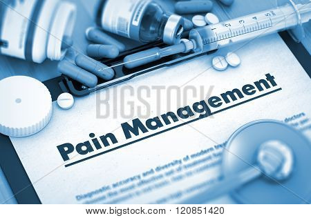 Pain Management. Medical Concept. 3D.