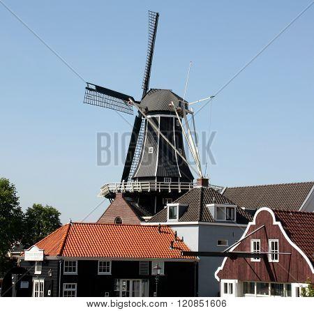 Haarlem. Navy-14-2014. Windmill