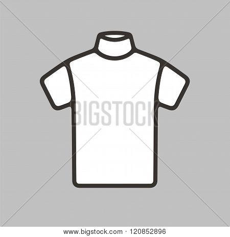Vector illustration. Icon of men's short sleeve turtleneck