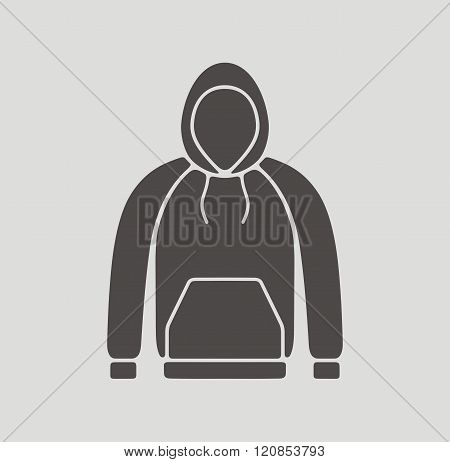 Vector illustration. Icon of a men's smock