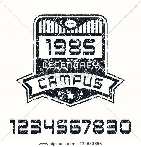 Sport Numbers And Campus Emblem
