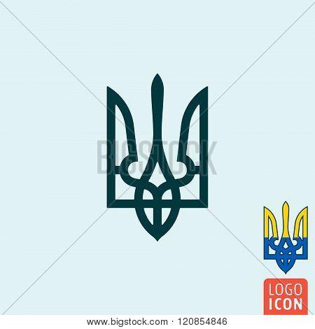 Trident Icon Isolated