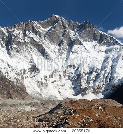 Top Of Lhotse, South Rock Face - Way To Everest Base Camp