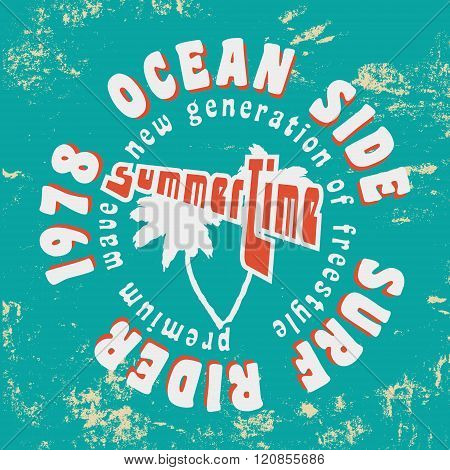 Surf Rider Vintage Stamp
