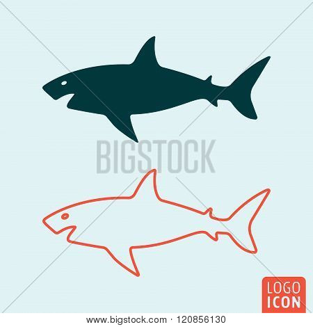 Shark Icon Isolated