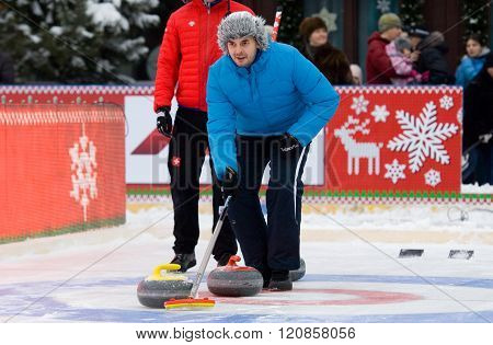 Curling Player Vasiliy Telezhkin