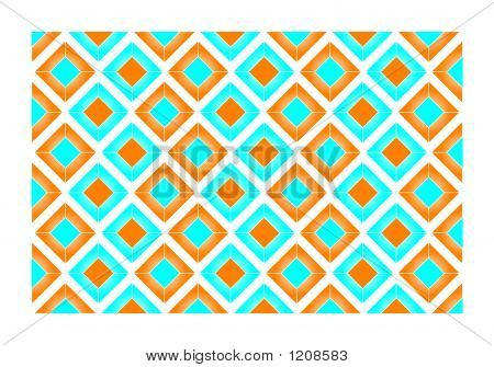Orange And Blue Tiles - Vector Illustration