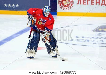 Goalkeeper Radovan Biegl (52)