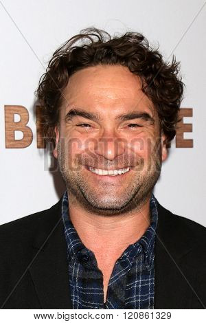 LOS ANGELES - MAR 7:  Johnny Galecki at the The Bronze Premiere at the SilverScreen Theater at the Pacific Design Center on March 7, 2016 in Los Angeles, CA