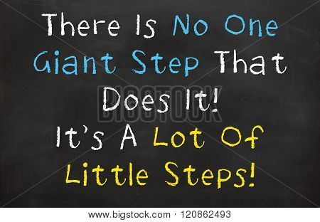 There is No One Giant Step