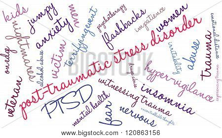 Post-traumatic Stress Disorder Word Cloud