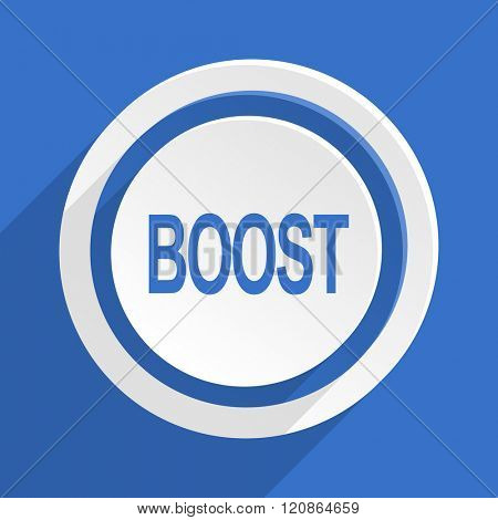 boost blue flat design modern icon