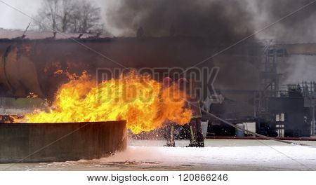 Industrial fire safety security risk