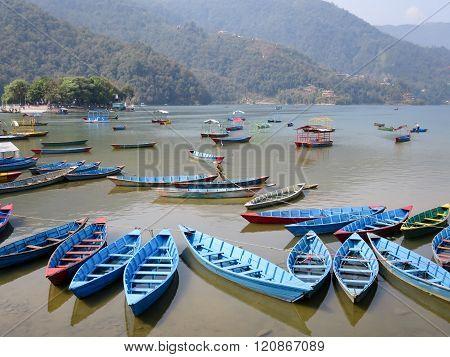 Boats On Lake Fewa