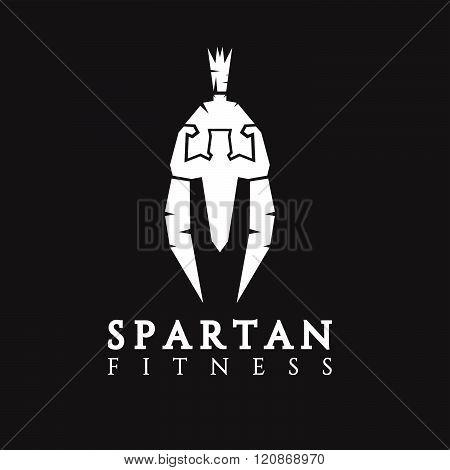 Bodybuilder As Part Of The Spartan Helmet Vector Concept