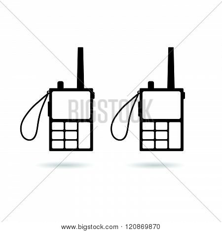 Walkie Talkie Illustration In Black