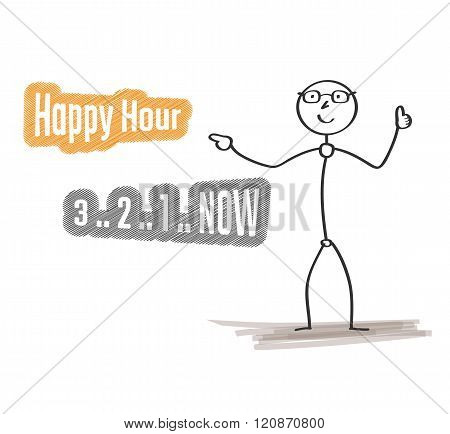 Man With Happy Hour