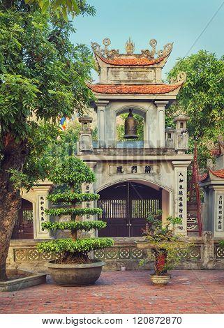 Oriental belltower in Asia
