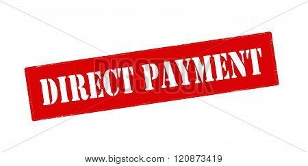 Rubber stamp with text direct payment inside vector illustration