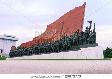 North Korea, Pyongyang, Mansudae Hill