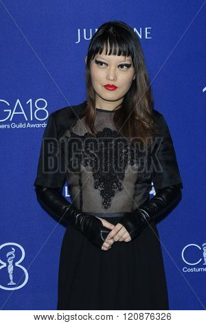 LOS ANGELES - FEB 23: Hana Mae Lee at the 18th Costume Designers Guild Awards at the Beverly Hilton Hotel on February 23, 2016 in Beverly Hills, California