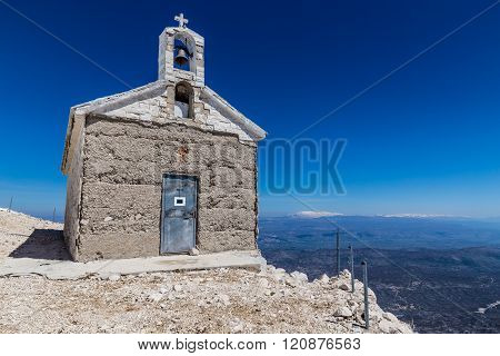 Chapel On The St. George (Sveti Jure) Mountain - Biokovo Mountain Croatia Europe