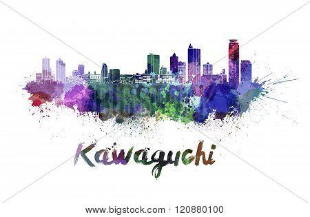 Kawaguchi Skyline In Watercolor