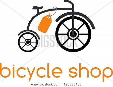 Bicycle Shop Vector Design Template . Concept Of Graphic Clipart Work