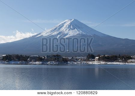 Mt.Fuji in winter, Japan