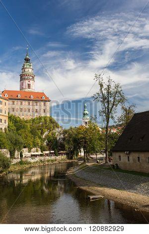 Bohemian Crumlaw, Cesky Krumlov, river and castle