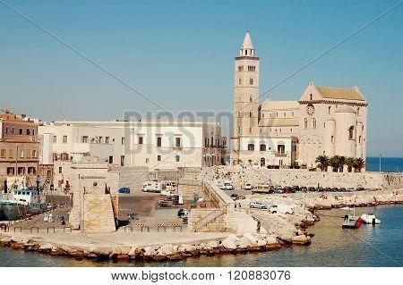 The Port And The Church Of Trani - Apulia - Italy