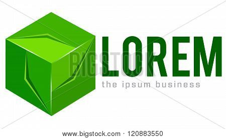 Abstract geometric shape logo