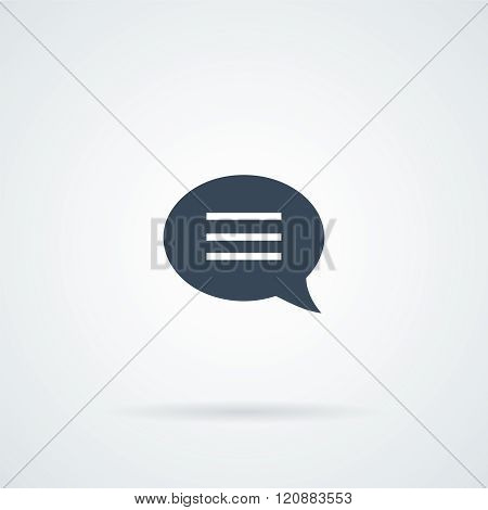Speech bubble Icon Vector.