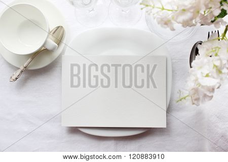 Table Card Mockup, Menu Mockup. Wedding Fashion Photography