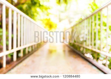 Blurred Walkway