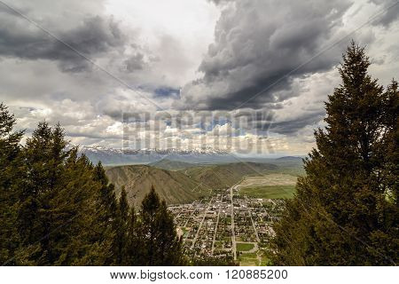 Jackson Hole Aerial View