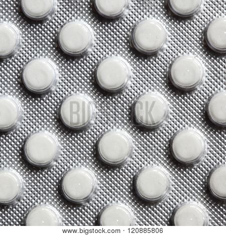 Pills in pack close-up