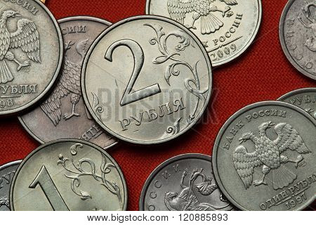 Coins of Russia. Russian two ruble coin.