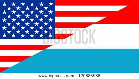 usa america luxembourg half country language flag