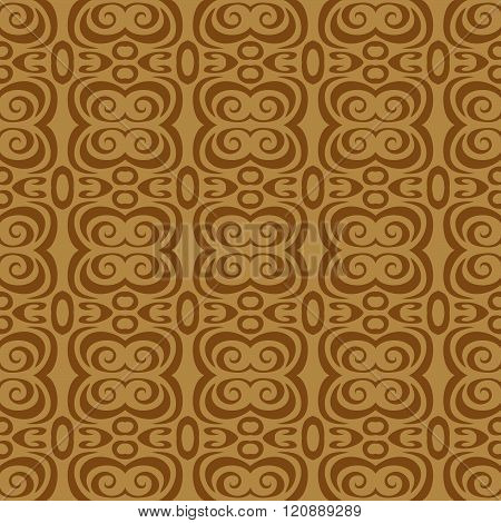 seamless wallpaper. retro repeating pattern. The brown pattern