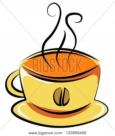 a cup of coffee. Vector illustration. Doodle style