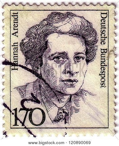 Germany - Circa 1986: A Stamp Printed In Germany From The