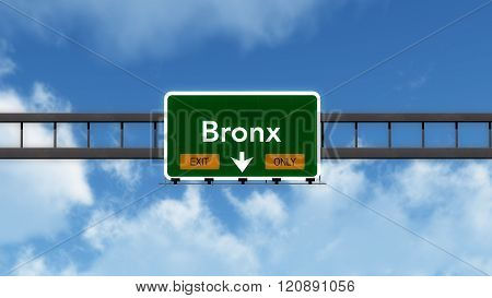 Bronx Usa Interstate Highway Sign