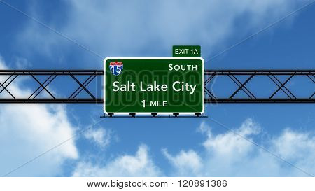 Salt Lake City Usa Interstate Highway Sign