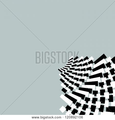 Circular, Concentric Abstract Design Element , Motiff On White