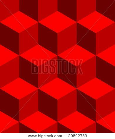 Isometric Cubes Seamlessly Repeatable Pattern. 3D Cubes Background.