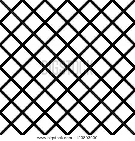 Seamlessly Repeatable Grid, Mesh Pattern. Simple Lattice, Grillage Texture. Vector.