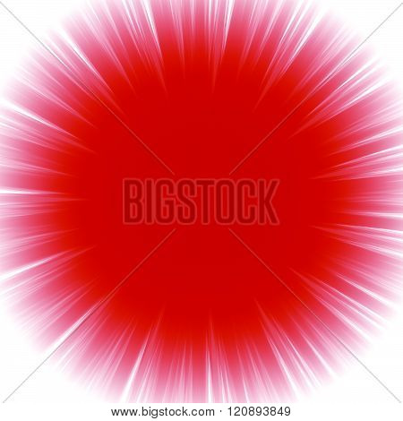 Abstract Radial Starburst Background With Transparent Glowing Effect