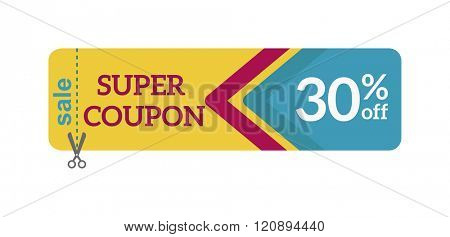 Gift Coupon Vector illustration.Gift Coupon template.Gift voucher template with clean and modern pattern. Gift Coupon design.Gift coupon certificate template,can be use for business shopping card