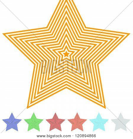 Monochrome Background With 5 Point Star Shape
